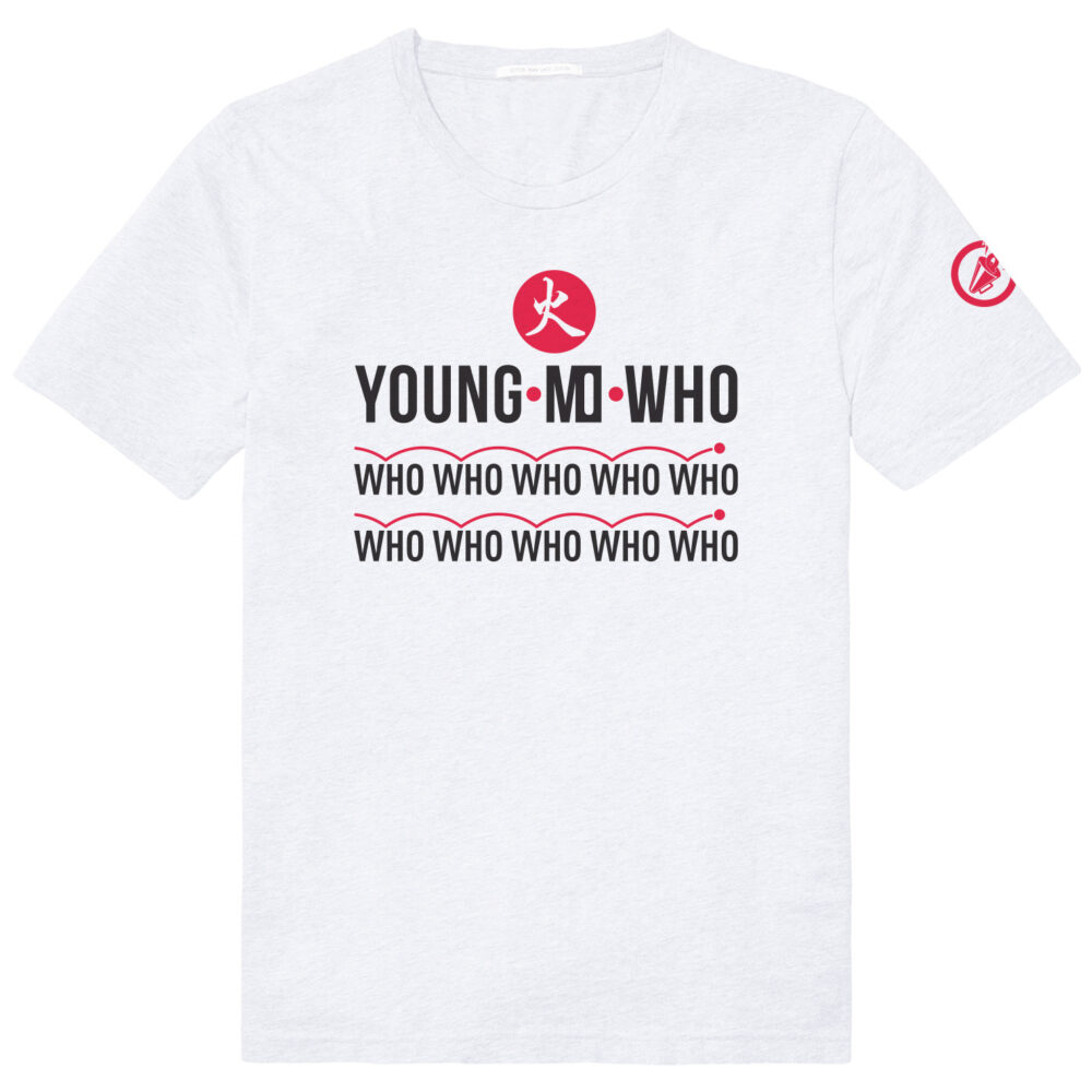 Thema shirt van Young Mo Who over historische sportmomenten