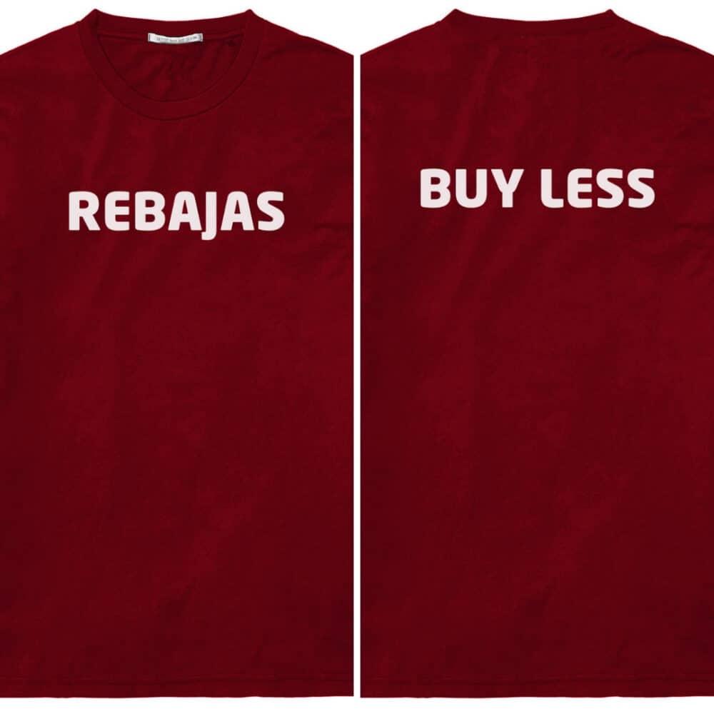 Koopjesjagers op Kortingen en koopjes; maar koop toch allemaal wat minder