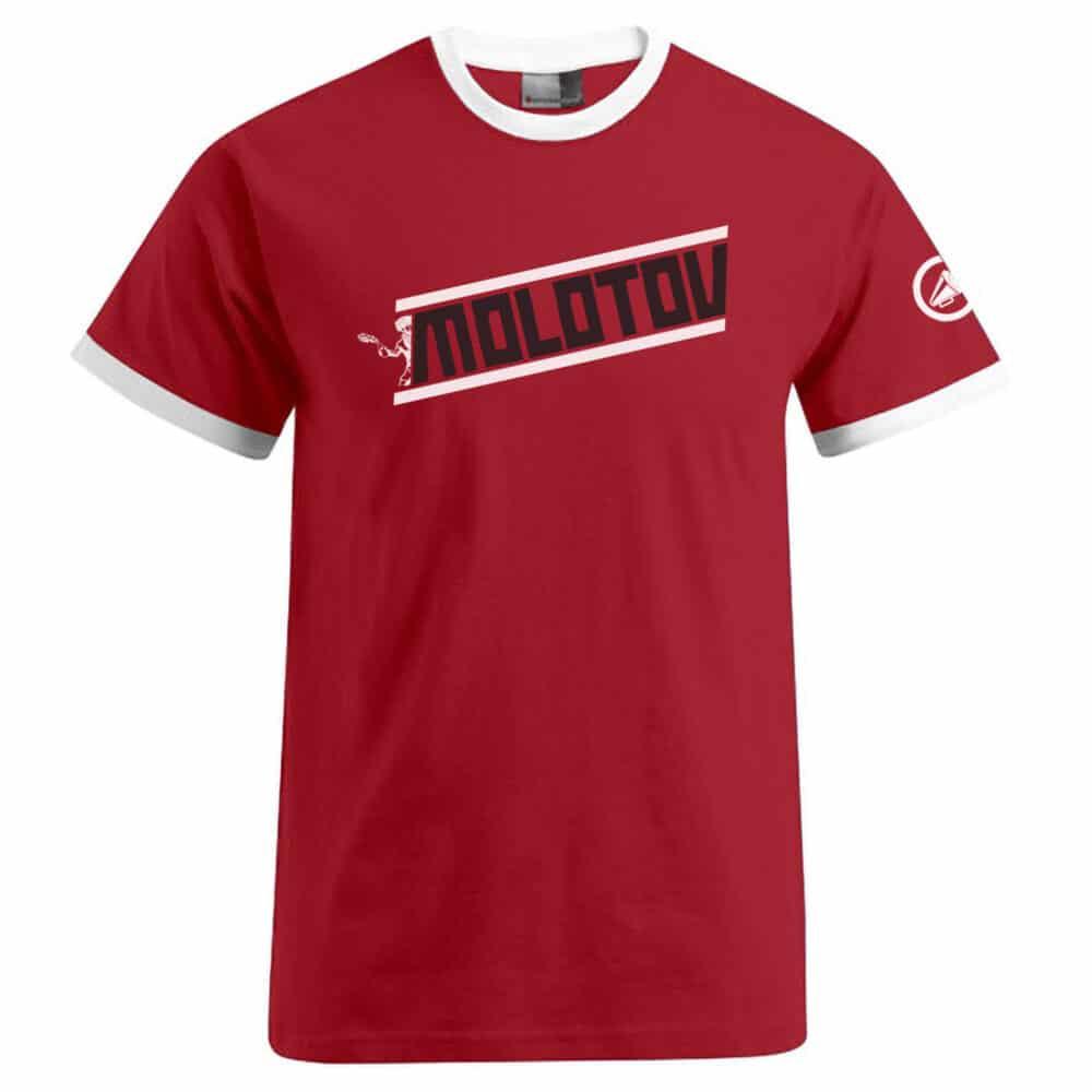Molotov op rood shirt